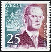 SWEDEN - CIRCA 1998: stamp printed in Sweden shows King Carl XVI Gustaf, circa 1998. — Stock Photo