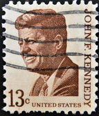UNITED STATES OF AMERICA - CIRCA 1967: a stamp printed in USA shows John F. Kennedy, 35th President of USA, circa 1967 — Stock Photo