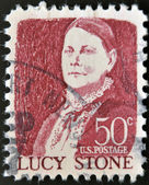 UNITED STATES OF AMERICA - CIRCA 1968: stamp printed in USA shows Lucy Stone, circa 1968 — Stock Photo