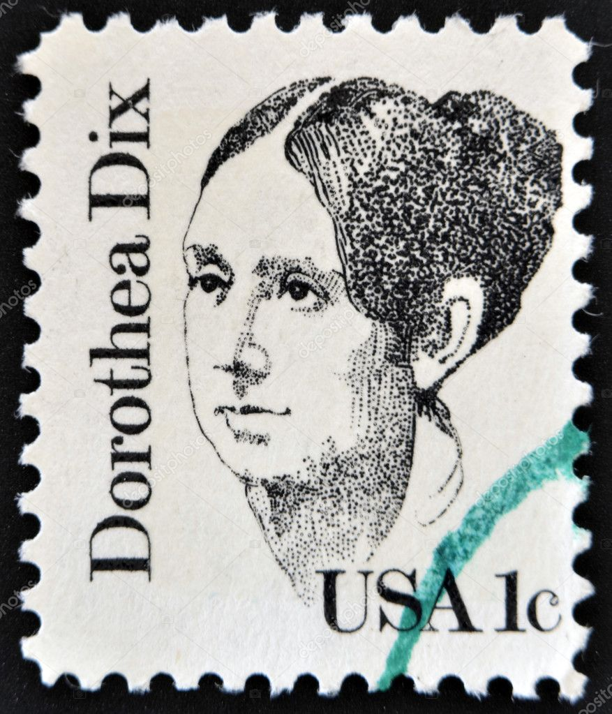 UNITED STATES OF AMERICA - CIRCA 1983: A stamp printed in USA, shows Dorothea Lynde Dix, circa 1983 — Stock Photo #11016069