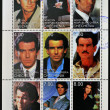 ������, ������: CHECHNYA CIRCA 1999: Collection stamps printed in Chechnya shows Pierce Brosnan circa 1999
