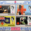 DOMINICA - CIRCA 1970: Collection stamps dedicated to centenary of the British Red Cross, circa 1970 - Stock Photo
