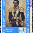 Stock Photo: ECUADOR - CIRC1972: stamp printed in Ecuador, shows portrait of General Antonio Fafán, commemoration of 150th anniversary of Battle of Pichinchin 1822, circ1972