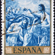 SPAIN - CIRCA 1961: stamp printed by Spain, shows El Greco Paintings, Baptism of Christ, circa 1961. — Stock Photo