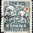 Stock Photo: SPAIN - CIRC1945: stamp printed in Spain shows gentlemof Crusades, circ1945