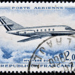 Zdjęcie stockowe: FRANCE - CIRC1965: stamp printed in France show passenger jet Mistere 20, circ1965.