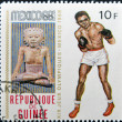 GUINEA-BISSAU - CIRCA 1968: A stamp printed in Guinea-Bissau shows , series devoted Olympic games in Mexico, boxing, circa 1968 — Stock Photo