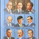 GABON - CIRCA 1985: Collection stamps dedicated to 100 anniversary of the Nobel prizes, circa 1985 — Stock Photo #11244887