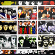 Stock Photo: KIRZIGUISTAN - CIRC2001: Collection stamps printed in Kirziguistshows Beatles, circ2001