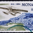 MONACO - CIRCA 1964: stamp printed in Monaco, shows Nieuport monoplane, circa 1964 — Stock Photo
