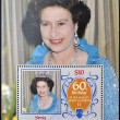 NEVIS - CIRC1986: stamp printed in Nevis shows Her Majesty Queen Elizabeth II, sixtieth birthday, circ1986 — Stock Photo #11245159