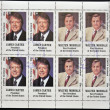 Stock Photo: STAFF- CIRC1977: stamps printed in Staffshows James Carter and Walter Mondale, circ1977