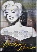 ABKHAZIA - CIRCA 1999: A stamp printed in Abkhazia (Georgia) shows Marilyn Monroe, circa 1999 — Stock Photo
