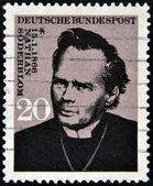 GERMANY - CIRCA 1966: A stamp printed in Germany shows Nathan Soderblom, circa 1966 — 图库照片