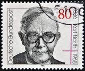 GERMANY - CIRCA 1986: A stamp printed in West Germany shows image of Karl Barth, circa 1986 — Stock Photo