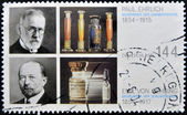 GERMANY - CIRCA 2004: A stamp printed in Germany dedicated to 150th birthday of Paul Ehrlich and Emil von Behring, circa 2004 — Stock Photo