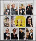 Buryatia - 2000 dolaylarında: koleksiyon pulları adanmış 2000 dolaylarında 72 akademi ödülleri — Stok fotoğraf