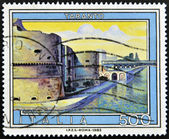 ITALY - CIRCA 1983: A stamp printed in Italy shows Taranto (Puglia), circa 1983 — Stock Photo