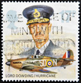 UNITED KINGDOM - CIRCA 1986: A Stamp printed in Great Britain showing a Hawker Hurricane Fighter Plane, circa 1986 — Stock Photo