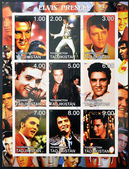TAJIKISTAN - CIRCA 2001: collection stamps shows Elvis Presley, circa 2001 — Stock Photo