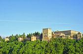 View of the Nasrid palaces, Alhambra, Granada — Stock Photo