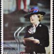 ABKHAZIA - CIRCA 2000 : Stamp printed in Abkhazia shows portrait Margaret Hilda Thatcher, Iron Lady, circa 2000 — Stock Photo