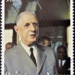 ABKHAZI- CIRC2000 : Stamp printed in Abkhazishows portrait Charles De Gaulle, circ2000 — Stock Photo #11417669