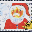 Royalty-Free Stock Photo: BULGARIA - CIRCA 1992: A stamp printed in Bulgaria shows to drawing of Christmas, Santa Claus ,  circa 1992.
