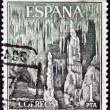 Stock Photo: SPAIN - CIRC1964: stamp printed in Spain shows Dragon Caves, Majorca, Spain, circ1964