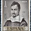 Royalty-Free Stock Photo: SPAIN - CIRCA 1962: A stamp printed in Spain shows self-portrait by Zurbaran, circa 1962