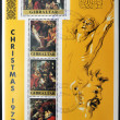Stock Photo: GIBRALTAR - CIRC1997: stamp printed in Gibraltar,shows to 400 commemoration of birth of Ruben, Christmas 1997, circa1997