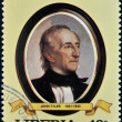 LIBERIA - CIRCA 1982: A stamp printed in Liberia shows President John Tyler, circa 1982. series of stamps of the presidents of united states of america — Stock Photo