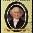 LIBERIA - CIRCA 1982: A stamp printed in Liberia shows President Martin Van Buren, circa 1982. series of stamps of the presidents of united states of america — Stock Photo