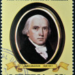 LIBERIA - CIRCA 1982: A stamp printed in Liberia shows President James Madison , circa 1982. series of stamps of the presidents of united states of america — Stock Photo