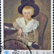 NORWAY - CIRCA 1979: a stamp printed in the Norway shows portrait of a child with hat on commemorate the International year of the child , circa 1979 — Stock Photo