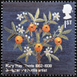 UNITED KINGDOM - CIRCA 2012: A stamp printed in Great Britain shows Mary &amp;#039;May&amp;#039; Morris textile design, circa 2012 - Stok fotoraf