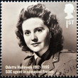 Stock Photo: UNITED KINGDOM - CIRC2012: stamp printed in Great Britain shows Odette Hallows, SOE agent in occupied France, circ2012
