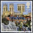 Royalty-Free Stock Photo: UNITED KINGDOM - CIRCA 2012: A stamp printed in Great Britain shows York Minster, circa 2012