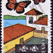 MEXICO - CIRCA 1997: A stamp printed in Mexico dedicated to Michoacan, lepidoptera, circa 1997 — 图库照片