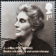 UNITED KINGDOM - CIRCA 2012: A stamp printed in Great Britain shows Joan Mary Fry, quaker relief worker and social reformer, circa 2012 — Stock Photo