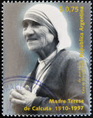 ARGENTINA - CIRCA 1997: A stamp printed in Argentina shows mother Teresa, circa 1997 — Stock Photo