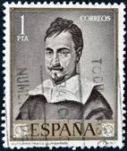 SPAIN - CIRCA 1962: A stamp printed in Spain shows self-portrait by Zurbaran, circa 1962 — Stock Photo