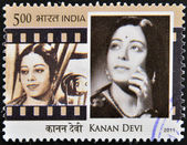 INDIA - CIRCA 2011: A stamp printed in India shows Kanan Devi, circa 2011 — Foto Stock