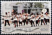 CAYMAN ISLANDS - CIRCA 1991: A stamp printed in Cayman Islands shows The Royal Cayman Islands Police Band , circa 1991 — Stock Photo