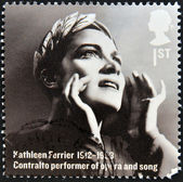 UNITED KINGDOM - CIRCA 2012: A stamp printed in Great Britain shows Kathleen Ferrier, contralto performer of opera and song, circa 2012 — Stock Photo
