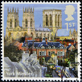 UNITED KINGDOM - CIRCA 2012: A stamp printed in Great Britain shows York Minster, circa 2012 — Stock Photo