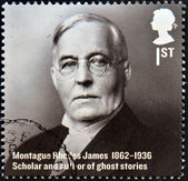 UNITED KINGDOM - CIRCA 2012: A stamp printed in Great Britain shows Montague Rhodes James, Scholar and author of ghost stories, circa 2012 — Stock Photo