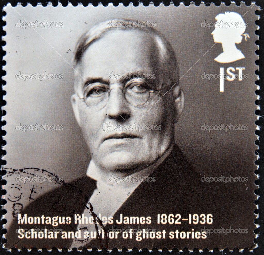 UNITED KINGDOM - CIRCA 2012: A stamp printed in Great Britain shows Montague Rhodes James, Scholar and author of ghost stories, circa 2012 — Stock Photo #11418573