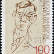 Stock Photo: GERMANY - CIRC1993: stamp printed in Germany shows to Rudolf Friedrich Wilhelm Ditzen ( Hans Fallada), circ1993
