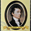 LIBERIA - CIRCA 1982: A stamp printed in Liberia shows President James Monroe, circa 1982. series of stamps of the presidents of united states of america — Stock Photo